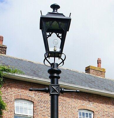 victorian style lantern and lamp post antique garden lighting