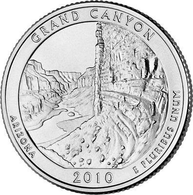 2010 D Grand Canyon National Park Quarter - Brilliant Uncirculated - ATB 2