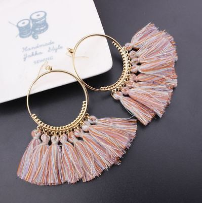 Fashion Women Bohemian Ethnic Tassel Dangle Hook Drop Boho Earring Jewelry AU 8