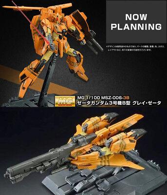 1//100 MG Gundam III 3 P2 /& B TYPE Red /& GRAY Zeta MSZ-006P2//3C 006-3B x 2Box