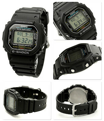 CASIO DW5600E-1V Mens Classic GSHOCK Black Resin Digital Chronograph Sport Watch 2