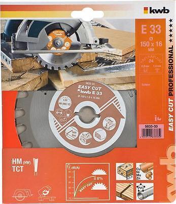HM Kreissägeblatt EASY CUT Ø150x20x1,8mm 24 Zähne Sägeblatt kwb