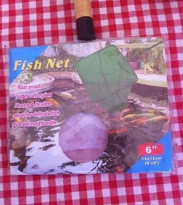 Epuisette Blanche Ultra Fine  Poisson Delicats Manche Bois 10 Cm  Aquarium 3