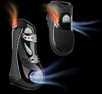 Veredus GRAND SLAM Carbon Gel Vento Airflow Cooling TENDON Boots Black//Brown M//L