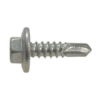 Qty 500 Hex Metal Self Drilling 10g-16 x 16mm Galvanised Screw Tek Roofing