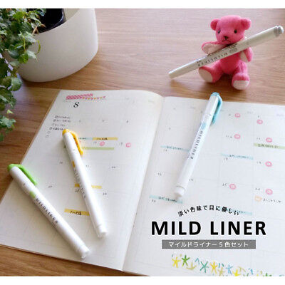 Zebra Mildliner Pastel Double-Sided Highlighter (20 Colors Available)