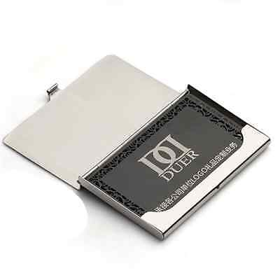 Business Name ID Credit Card Case Metal Fine Box Holder Stainless Steel Pocket 3
