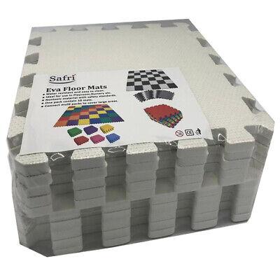 White Interlocking Soft Foam EVA Floor Mats Jigsaw Tiles Kids Babies Playmat 3