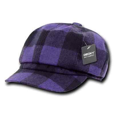 a1202b16594 ... DECKY Newsboy Ivy Ivys Plaid Pre Curved Hats Hat Cap Drivers Cabbie  Golf Gatsby 4 •