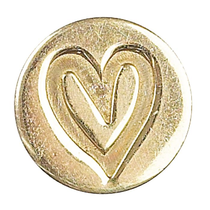 Hochzeits Einladung Liebe Herz Stempel Siegel Griff & Münze Set mit rot