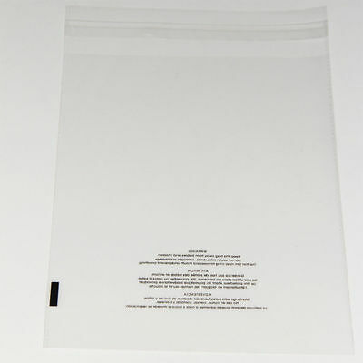 100 12x18 Poly Bags Resealable Suffocation Warning Clear Merchandise 1.5 mil 3