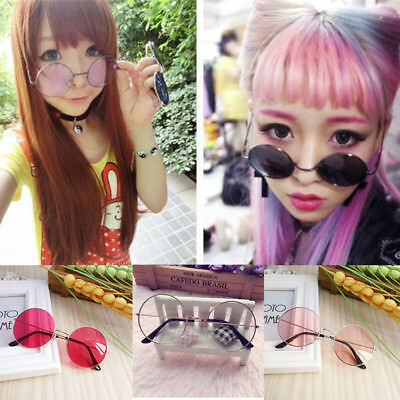 Women Retro Round Plastic Fashion Glasses Lens Sunglasses Eyewear Frame Glasses 6