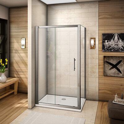 Extremement 110X90CM CABINE DE douche porte coulissante avec paroi de douche BU-67