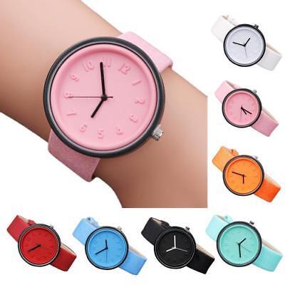 Simple Unisex Men Womens Canvas Strap Roman Number Quartz Analog Wrist Watch 4