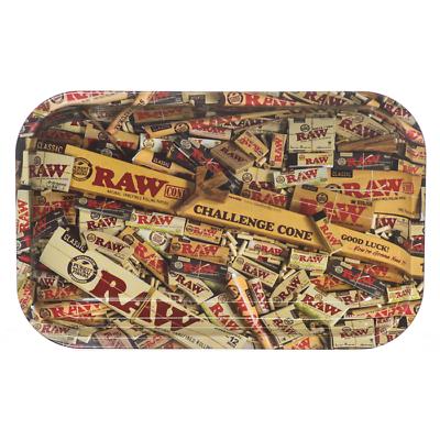 RAW Prepare for Flight Cigarette Tobacco Metal MEDIUM Rolling Tray 7x11