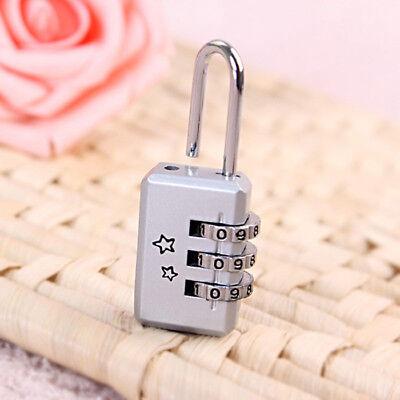 4,2,1 x Travel Luggage Locks Combination 3 Dial Code PadLock Suitcase Security 8