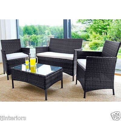 Rattan Garden Furniture Set 4 Piece Chairs Sofa Table Outdoor Patio Conservatory 2