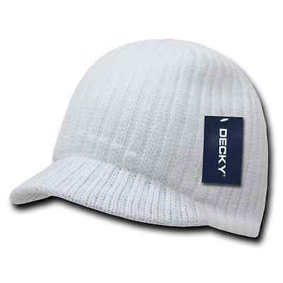 Decky GI Light Weight Beanies Striped Solid Caps Hats Visor Winter 8
