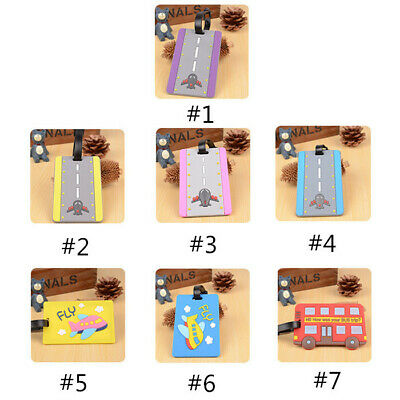 Silicone Travel Luggage Tags Colorful Suitcase Label Name Address  Baggage Tag 2