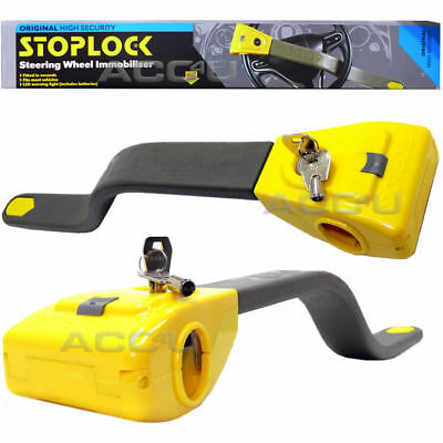 StopLock Original Robust High Security Flashing LED Car Van Steering Wheel Lock 2