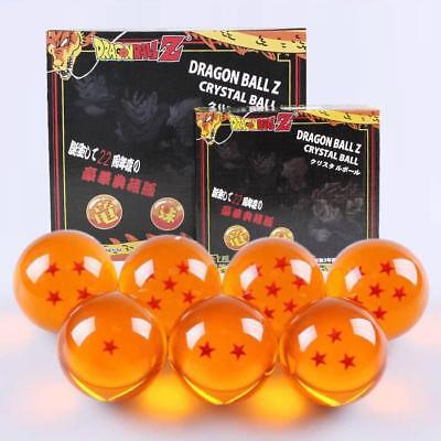 New 7Pcs Stars Dragon Ball Z Crystal Balls Set Collection 4.5 cm Gifts with BOX