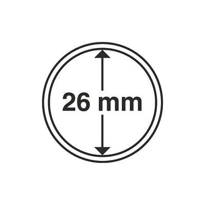 10 Capsules rondes int 26 mm pour les pièces de 2 euros, boite de 10-Réf 309404 2