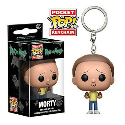 DC Marvel Keyring Groot/Rick/Morty/Dean/Goku Figure Funko POP Pocket Keychain 3