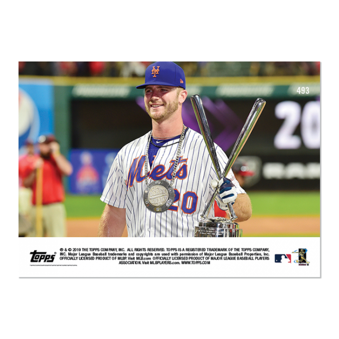2019 Topps Now #493 Pete Alonso 2019 T-Mobile Home Run Derby Winner 2
