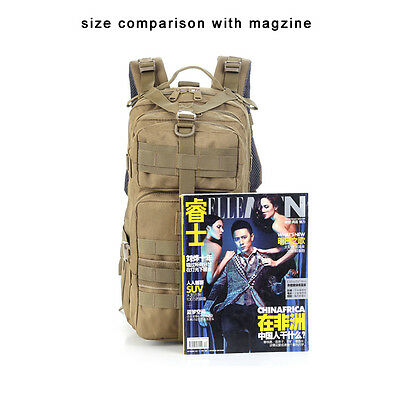 Hiking Camping Bag Army Military Tactical Trekking Rucksack Backpack Camo  30L 9