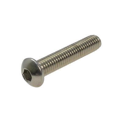 Button Head Socket Screw M5 (5mm) Metric Coarse Bolt Allen Stainless Steel G304