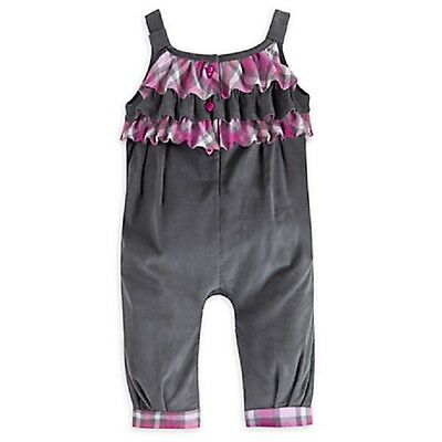 DISNEY STORE MINNIE MOUSE CORDUROY DUNGAREE SET FOR BABY GIRL NWT NICE DETAIL