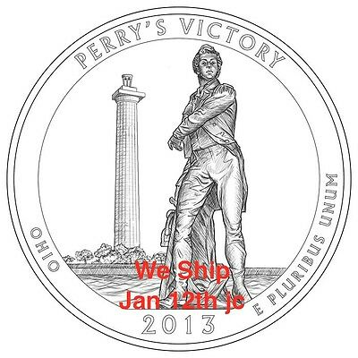 2013 S Mint 90% Silver Proof Perry's Victory Int'l Peace Memorial Quarter Perrys 2