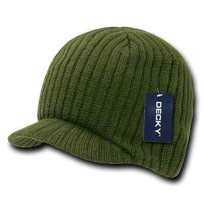 Decky GI Light Weight Beanies Striped Solid Caps Hats Visor Winter 7