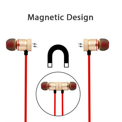 Magnet Wireless In-Ear Sports Earphone Headset Headphone For iPhone Samsung 4