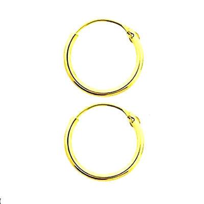 Orecchini Cerchio Argento 925  Oro - Rodio - Oro Rosa da 8 a 50 mm 2
