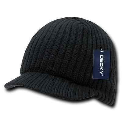 Decky GI Light Weight Beanies Striped Solid Caps Hats Visor Winter 3