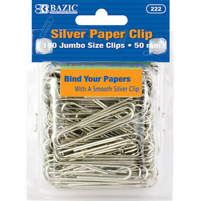 Free Post school and office ideal for home 25 × Jumbo Silver Paper Clips