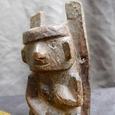 Very nice wood carving with a woman, Recuay-Huari, Peru 300-1100 AD 6