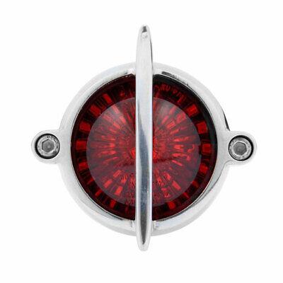 Poliertes Alu LED Motorrad Rücklicht im Round Classic Cadillac Retro Style
