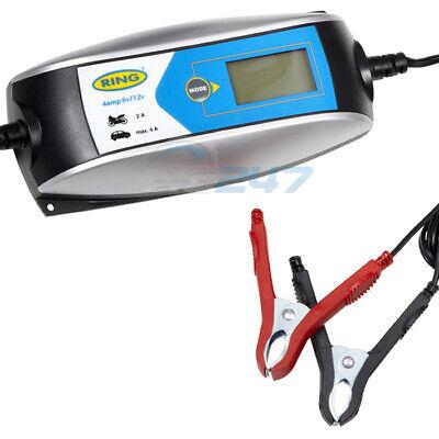 Ring RSC404 6v 12v Digital 4A Intelligent Smart Car Motorbike Battery Charger 7