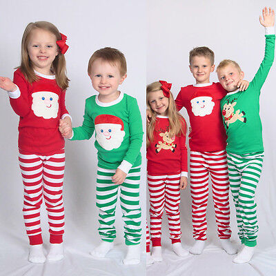 5 of 11 xmas kids children family matching christmas pajamas sleepwear nightwear pyjamas