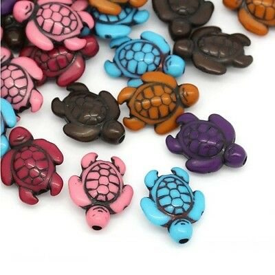 Lot 10 Perle Tortue Acrylique 18mm x 15mm Tortues souriante, Creation Bijoux ... 3
