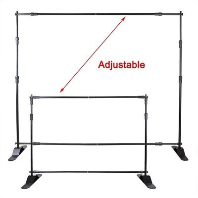 10x 8'ft Adjustable Step and Repeat Telescopic Banner backdrop Stand Trade show