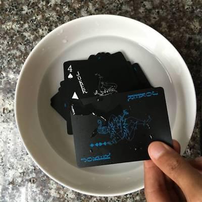 Creative Waterproof Black Plastic PVC Poker Magic Table Board Game Playing Cards 6