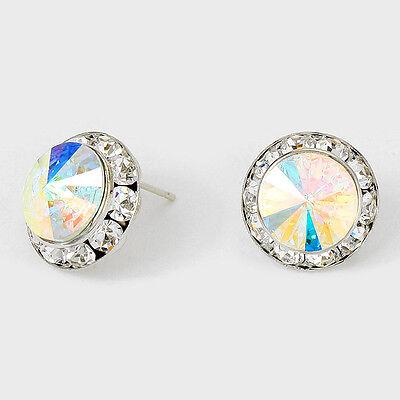 2 Of 3 Genuine Austrian Crystal Rhinestone 20mm Rivoli Dance Earrings Medium 1 Inch
