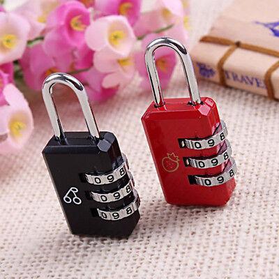 4,2,1 x Travel Luggage Locks Combination 3 Dial Code PadLock Suitcase Security 3
