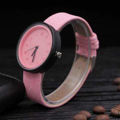 Simple Unisex Men Womens Canvas Strap Roman Number Quartz Analog Wrist Watch 7