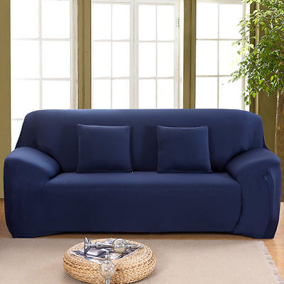 1/2/3/4 Sofa Couch Slipcover Stretch Covers Elastic Fabric Settee Protector Fit 4