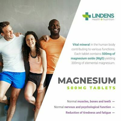 Magnesium MgO 500mg Tablets (90 pack) [Lindens 0403] 3