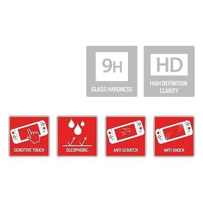 Film de protection d'écran en verre trempé 9 H Nintendo Switch Officiel Neuf 6